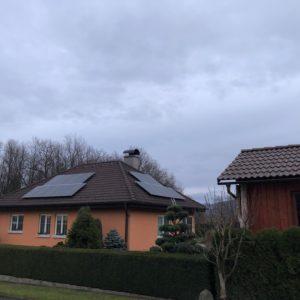 5,27 kWp + baterie 7,6 kWh Klient čerpal dotaci 170 000 Kč. Frenštát pod Radhoštěm