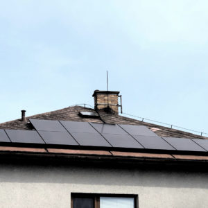 7,44 kWp + baterie 9,6 kWh Klient čerpal dotaci 155 000 Kč. Zábřeh