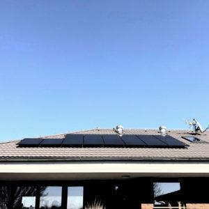 8,99 kWp + baterie 11,6 kWh Klient čerpal dotaci 170 000 Kč. Petřvald